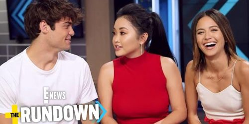 Noah Centineo and Lana Condor Get Flirty + Noah does ASMR on The Rundown for E! News